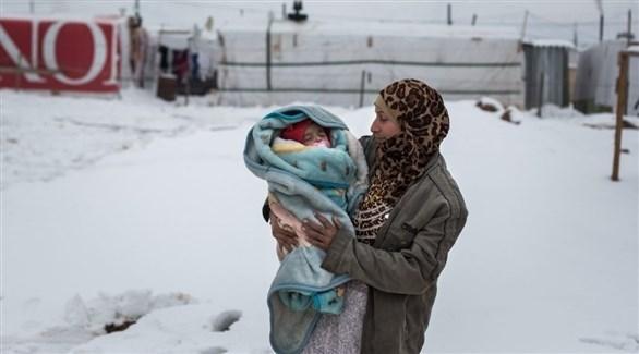 وفاة أربعة لاجئين سوريين بينهم أطفال جرّاء البرد في لبنان