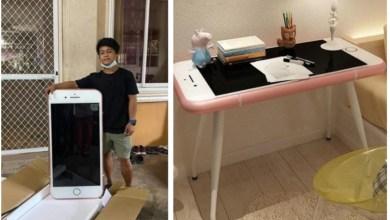 تايلندي يشتري آيفون من موقع إلكتروني ليتفاجأ بطاولة قهوة