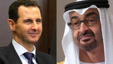قادة الإمارات يهنؤون الأسد باليوم الوطني لسوريا
