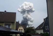 حريق ضخم في ألمانيا يتسبب بفقدان خمسة عمال