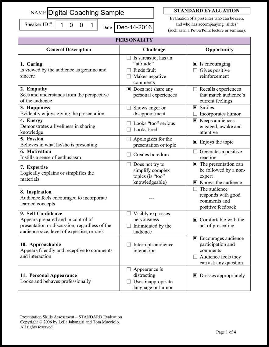 Visually Speaking » Assessment Tools