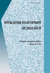 Book Cover: ПРОБЛЕМИ ПОЛІТИЧНОЇ ПСИХОЛОГІЇ Випуск 1 (15)