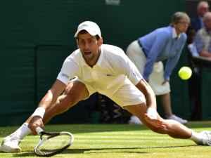 Novak Djokovic seals Wimbledon semi-final place after fiery four-set win over Kei Nishikori