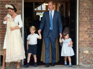 Royal Family Members Dress to Impress at Prince Louis' Christening