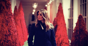 Melania Trump's Red Christmas Trees Conjure 'Handmaid's Tale' For Twitter Users