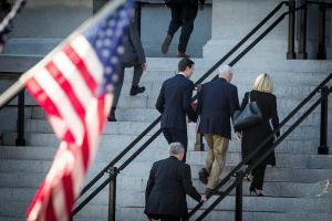 A Wall and Two Prayers, but Little Progress at Weekend Meetings on the Shutdown
