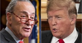 Chuck Schumer Sums Up 'Scared' Donald Trump's SOTU With 4 Little Words
