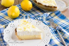 Sugar-Free Lemon Cream Pie {Keto, Low Carb, Gluten Free}