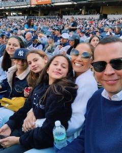 Jennifer Lopez and Alex Rodriguez Have a Family Fun Day at Yankees Game