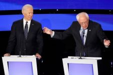 Presidential hopeful Sanders renews attack on rival Biden's Social Security record