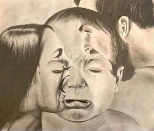Ilustrasi luka batin anak kecil