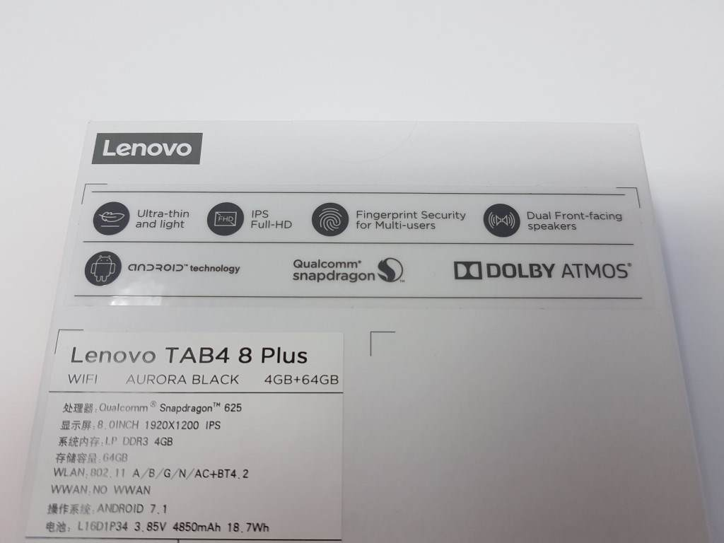 Lenovo TAB4 8 Plus – Media Player Reviews