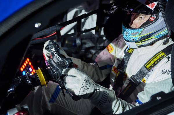Munich (GER), 5th December 2020. BMW SIM Live, event, show, BMW M4 GT3, Fanatec, steering wheel, Philipp Eng.