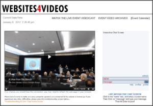 web platform development for live streaming events