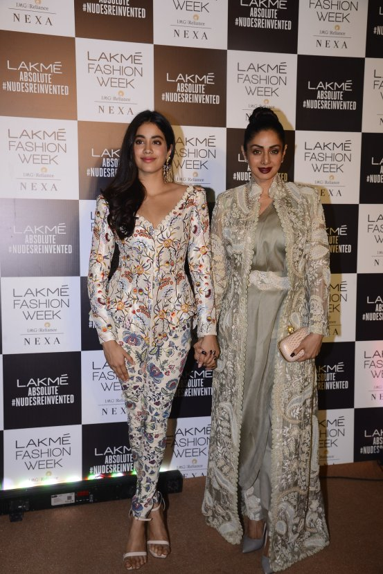 Sridevi & Janvi at LFW2018