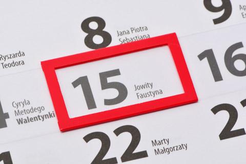 Okienka do kalendarzy - ramka nakładana na pasek