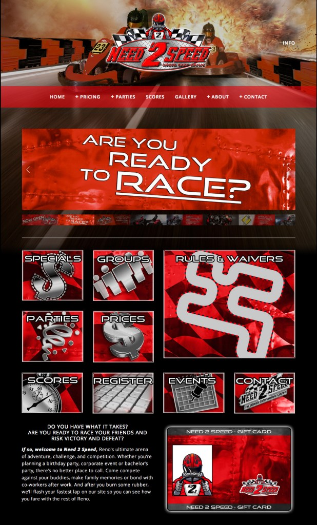 Need 2 Speed - Website