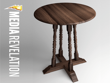 3D Render of Round Side Table