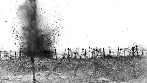 World War I artillery explosioin