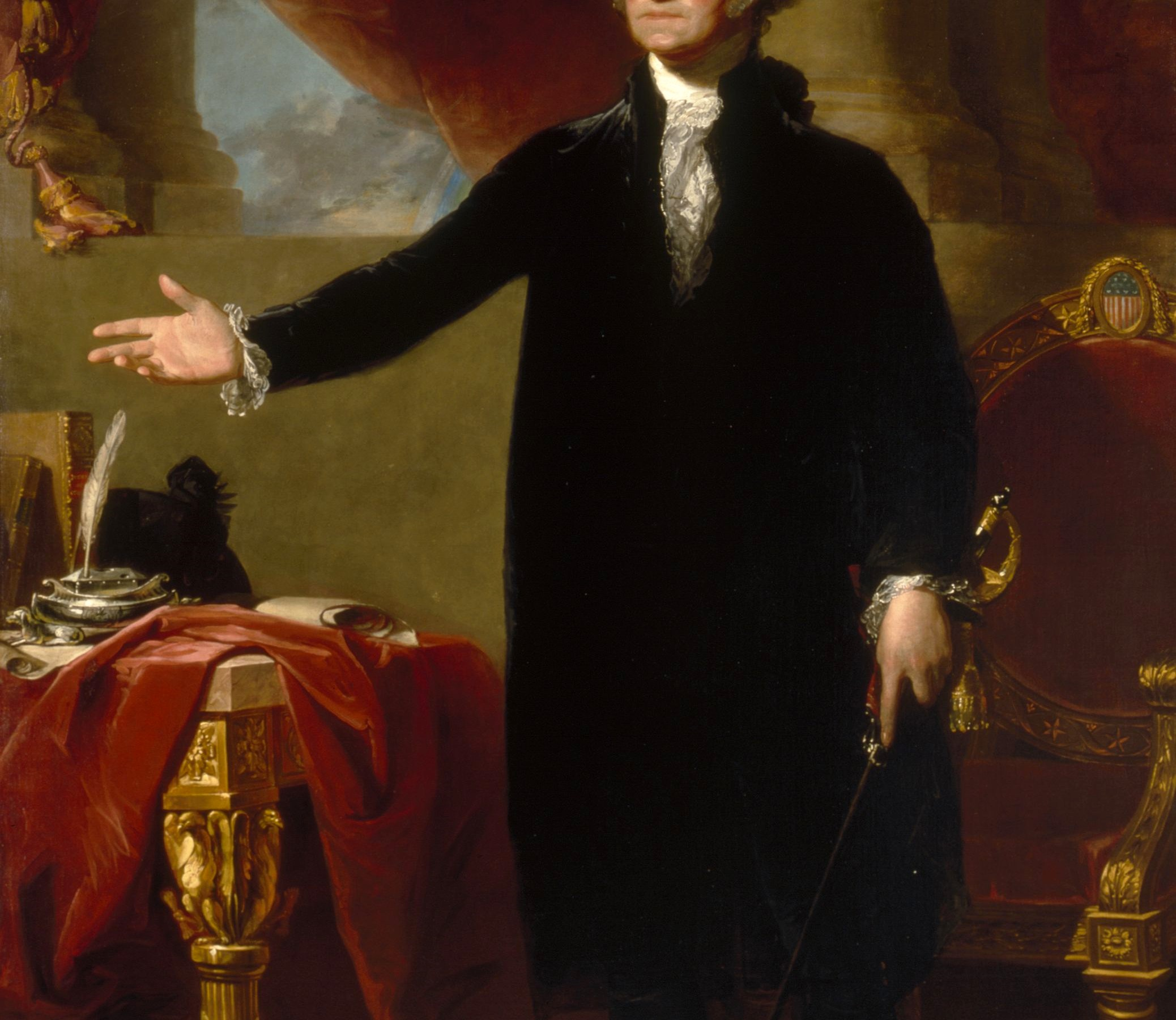 George Washington (Lansdowne Portrait), Gilbert Stuart (1796 )