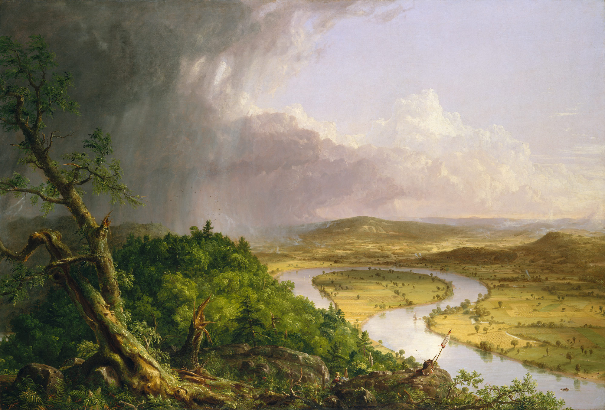 View from Mount Holyoke (The Oxbow), Thomas Cole (1836)