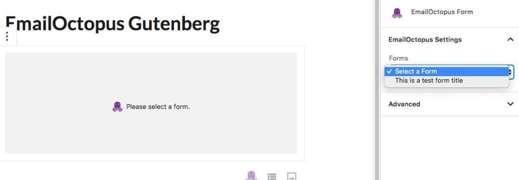 EmailOctopus Gutenberg