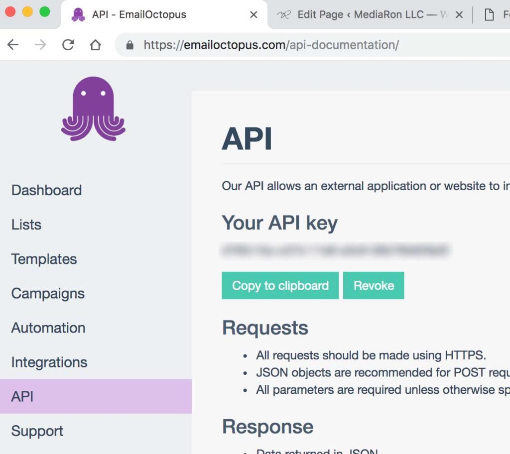EmailOctopus API Key