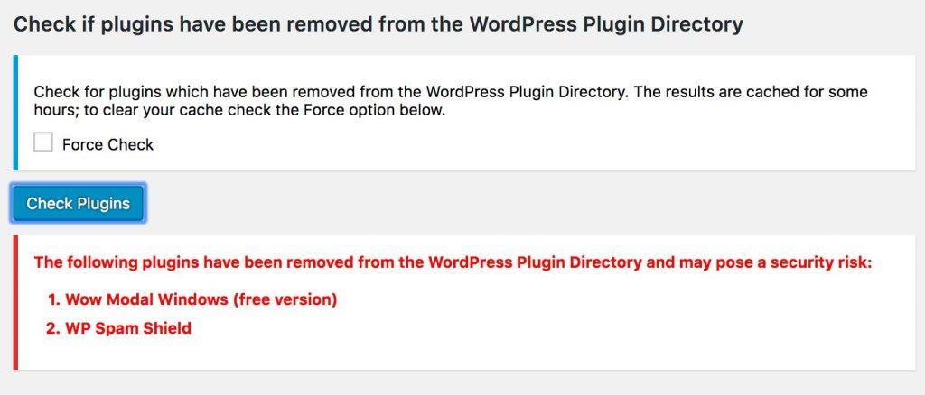 Check Plugins Error