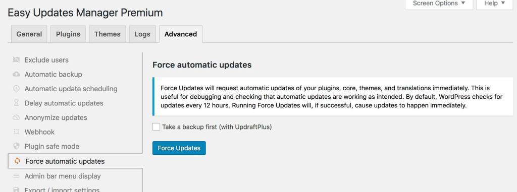 EUM Force Updates