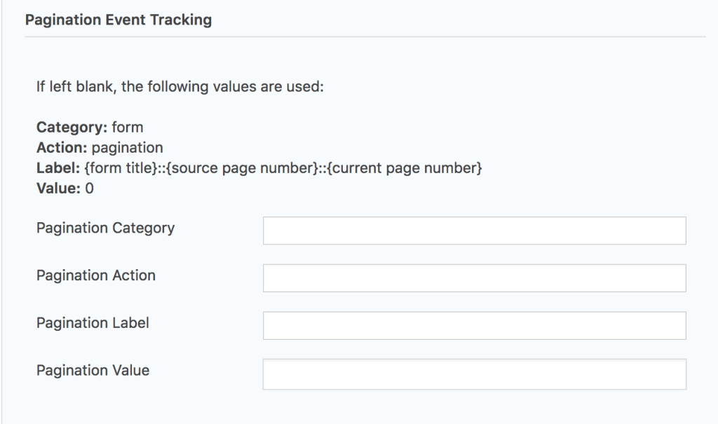 Pagination Settings Per Form