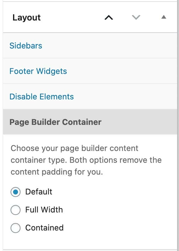 Page Builder Container in GeneratePress