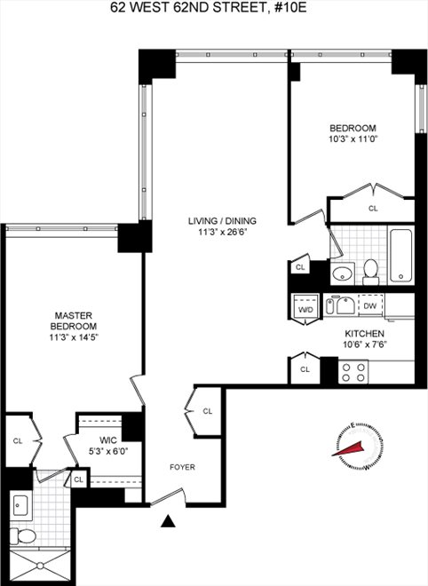 62 West 62nd Street Apt 10e, Upper West Side, Nyc Real