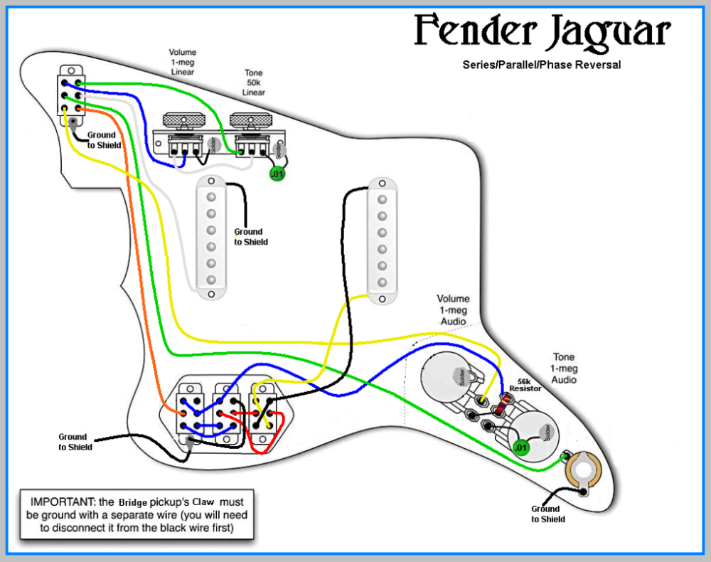 medium resolution of fender jaguar b wiring kit wiring diagram libraryfender jaguar wiring kit wiring diagram sq fender hss