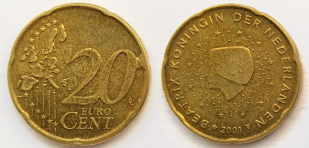 20 Cent Pays-Bas 2001
