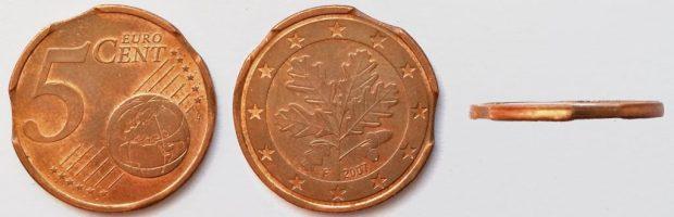 5 Cent Allemagne 2007F triple lunule