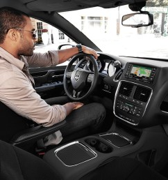 2019 dodge grand caravan interior view of man driving using navigation [ 1200 x 800 Pixel ]