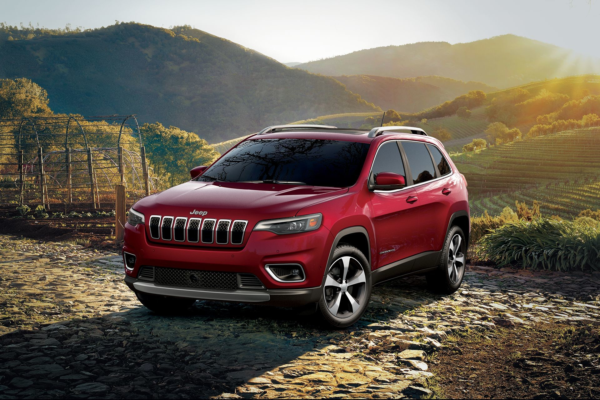hight resolution of jeep cherokee 2019 red 4x4 outdoors
