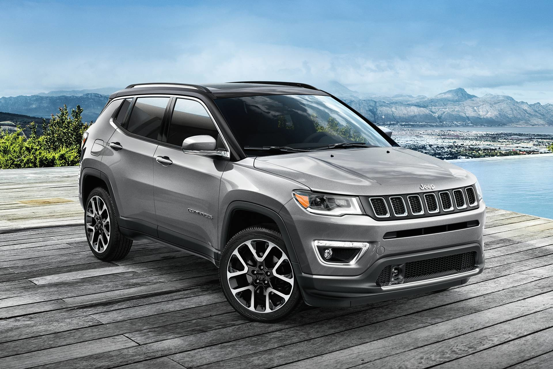 hight resolution of 2019 jeep compass parked in charcoal grey