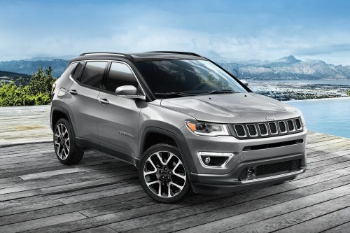 small resolution of 2019 jeep compass parked in charcoal grey