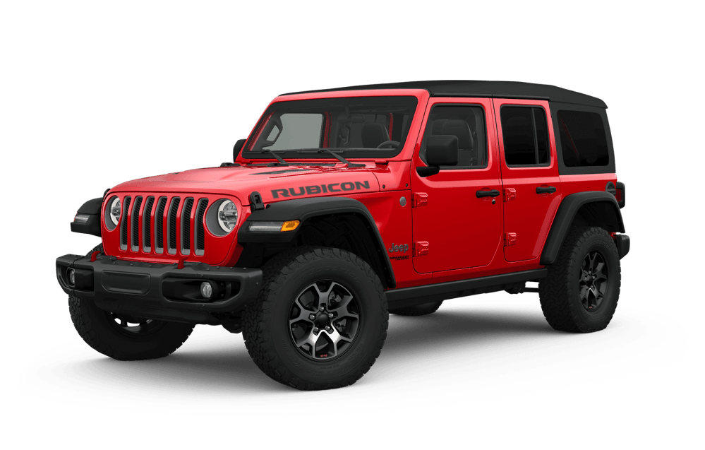 medium resolution of 2019 jeep wrangler full view in red with wheels