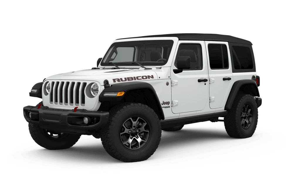 medium resolution of 2019 jeep wrangler full view in white with wheels