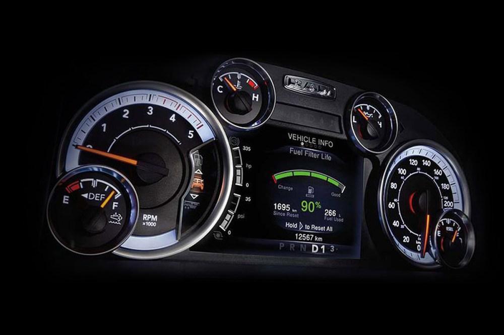 medium resolution of 2018 ram 2500 pickup truck customizable 7 inch display