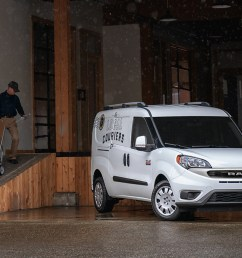 2019 ram promaster city being unloaded in loading dock shown in white [ 1200 x 800 Pixel ]