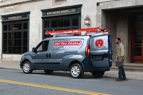 small resolution of 2019 ram promaster city parked on city street shown in grey
