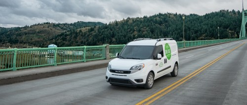 small resolution of  2019 ram promaster city sup sup driving over a bridge