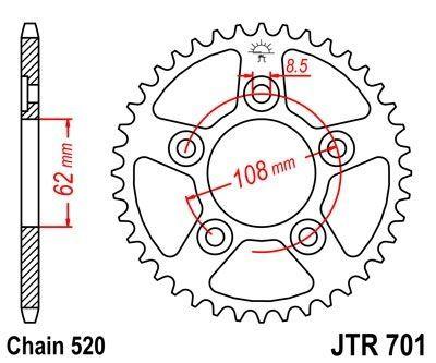 Kit Chaîne PBR Type Origine Acier C45 Aprilia TUONO 125