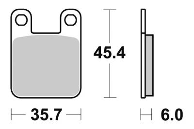 Plaquettes de frein Polini Sintered Beta RR 50 Enduro