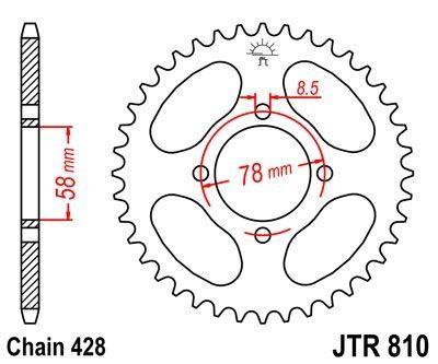 Kit chaîne DID 428 type HD 13/48 couronne standard Hyosung
