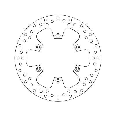 Disque de frein arrière Braking fixe wave Ø240 mm KT10RID
