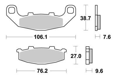 Plaquettes de frein d'origine Brembo carbone-céramique